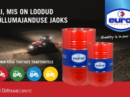 Dotnuva Baltic on saanud Eurol Agri õli ainsaks volitatud esindajaks kolmes balti riigis